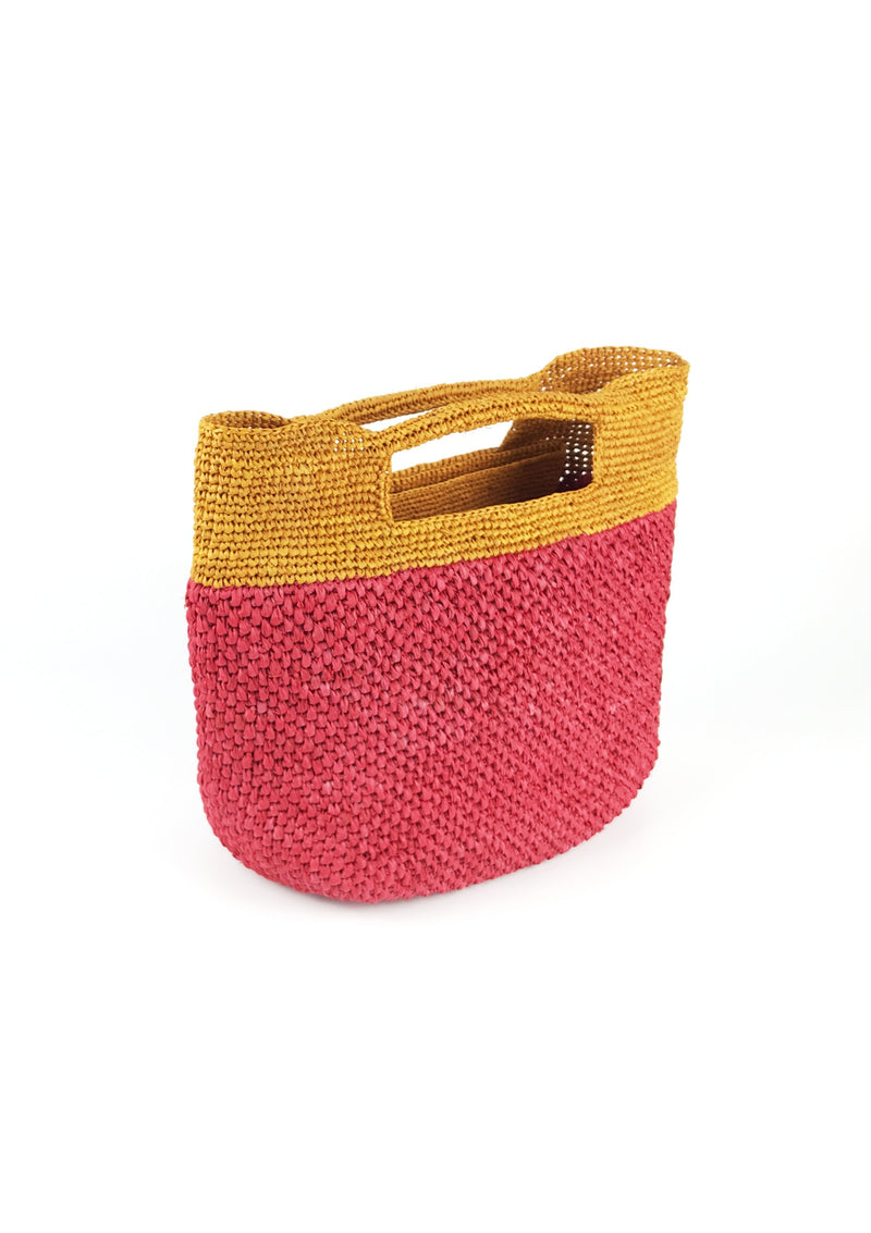 Raffia beach bag with pocket