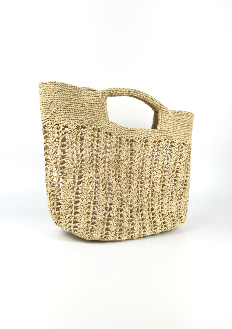 high end raffia bag for beach holiday