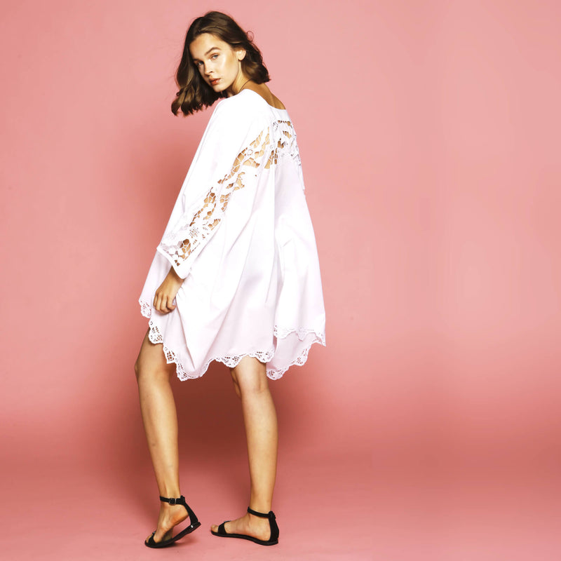 Broderie anglaise cover-up dress boat wear