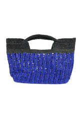 Luxury raffia tote bag for seaside holiday