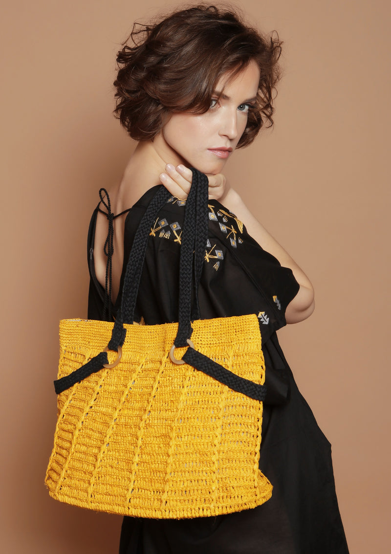 Maraina-London women fashion designer raffia bag