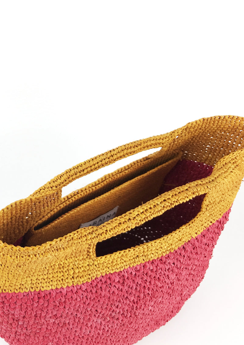 Raffia tote bag ethically made