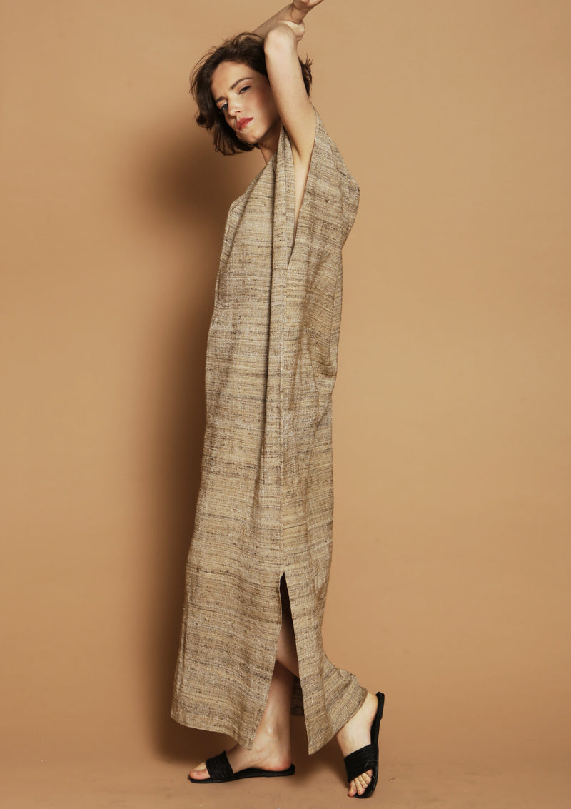 handmade sustainable silk kaftan