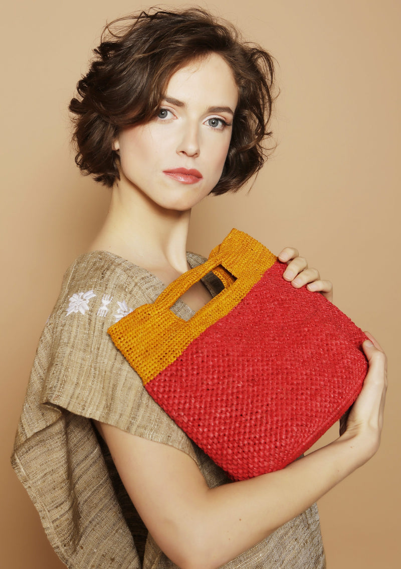 small designer raffia bag resortwear