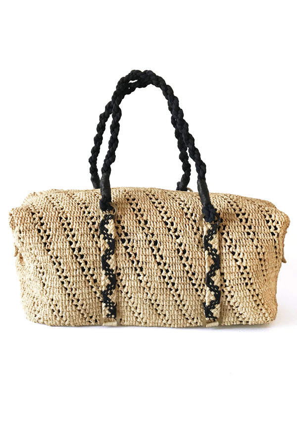 Women travel bag holdall weekend accessories raffia