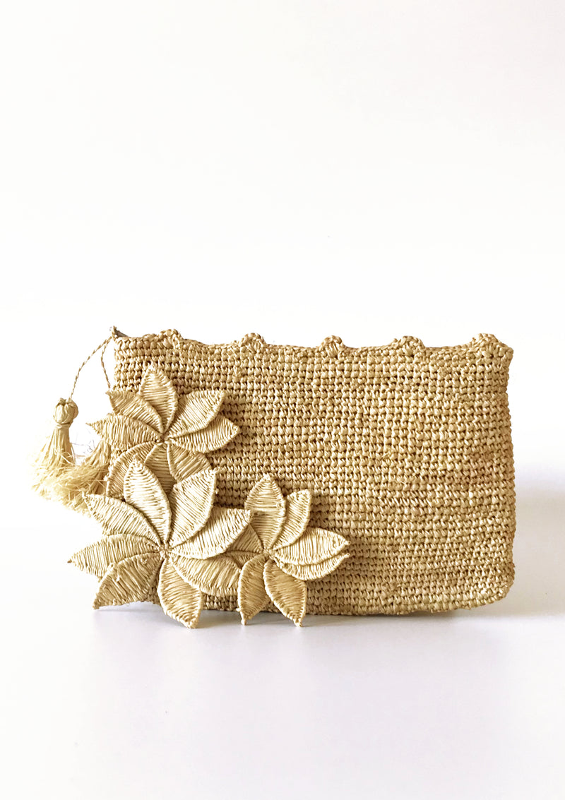 Luxury Raffia handmade raffia Clutch for occsionwear