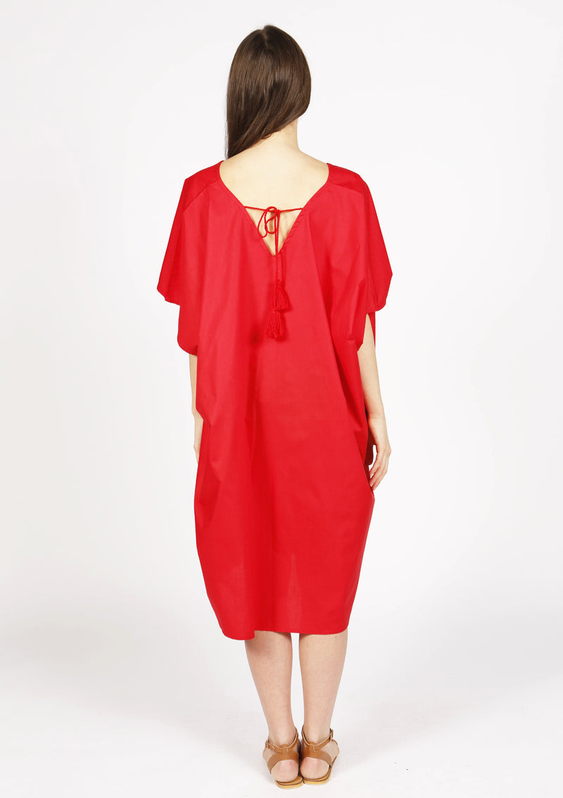 Cheap british  red beach dress for summer holidays