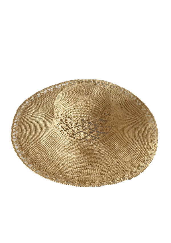 large raffia sun hat french riviera design beach holidays