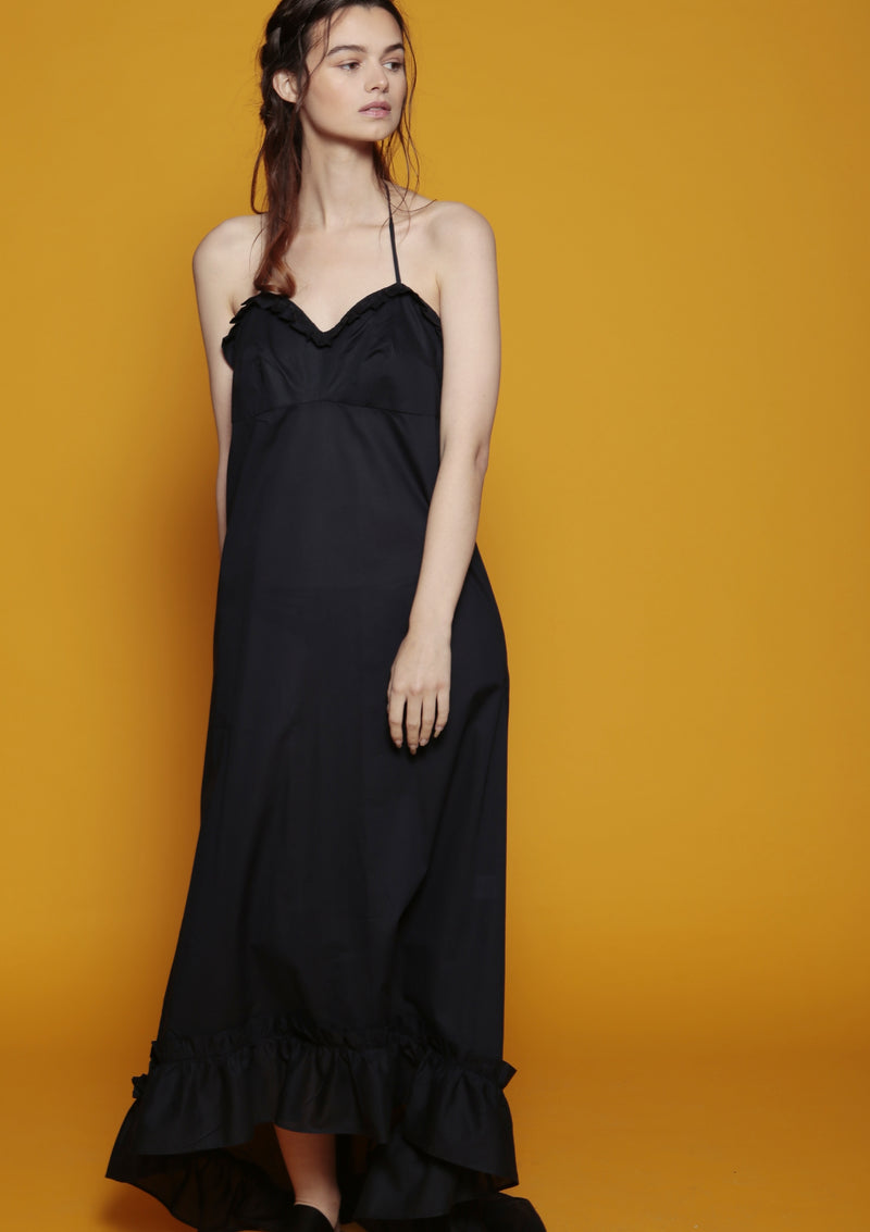 ruffle maxi dress beachwear