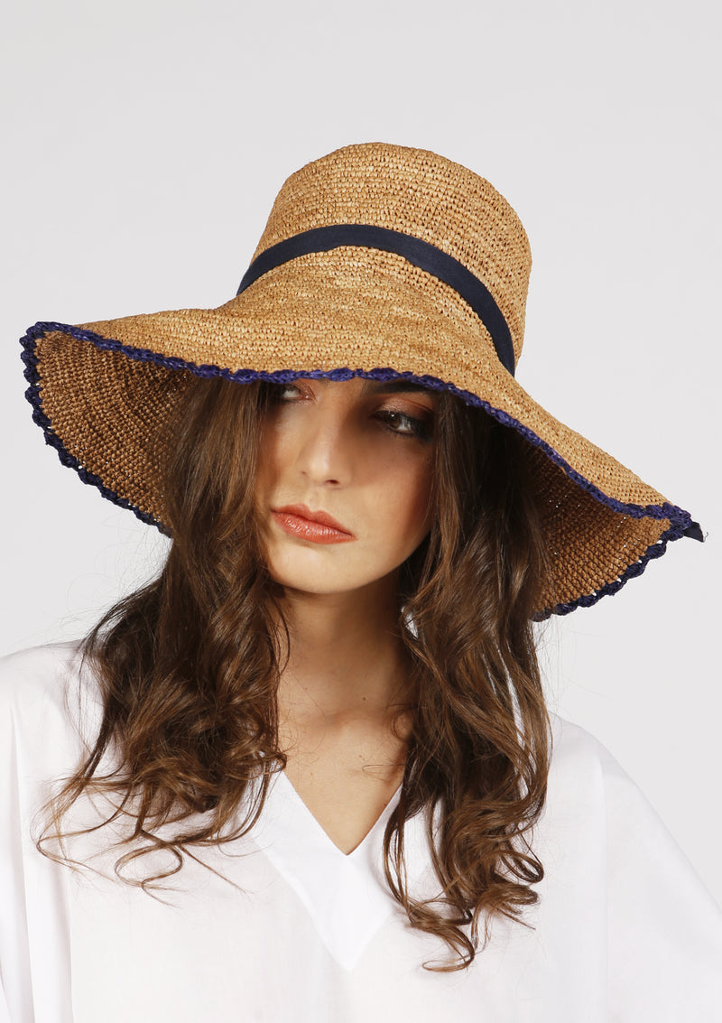 Raffia summer sun hat for women beachwear accessories