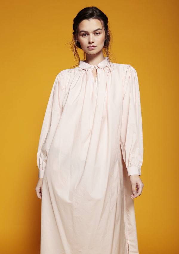 womenswear shirt dress pleated shirred sleeves
