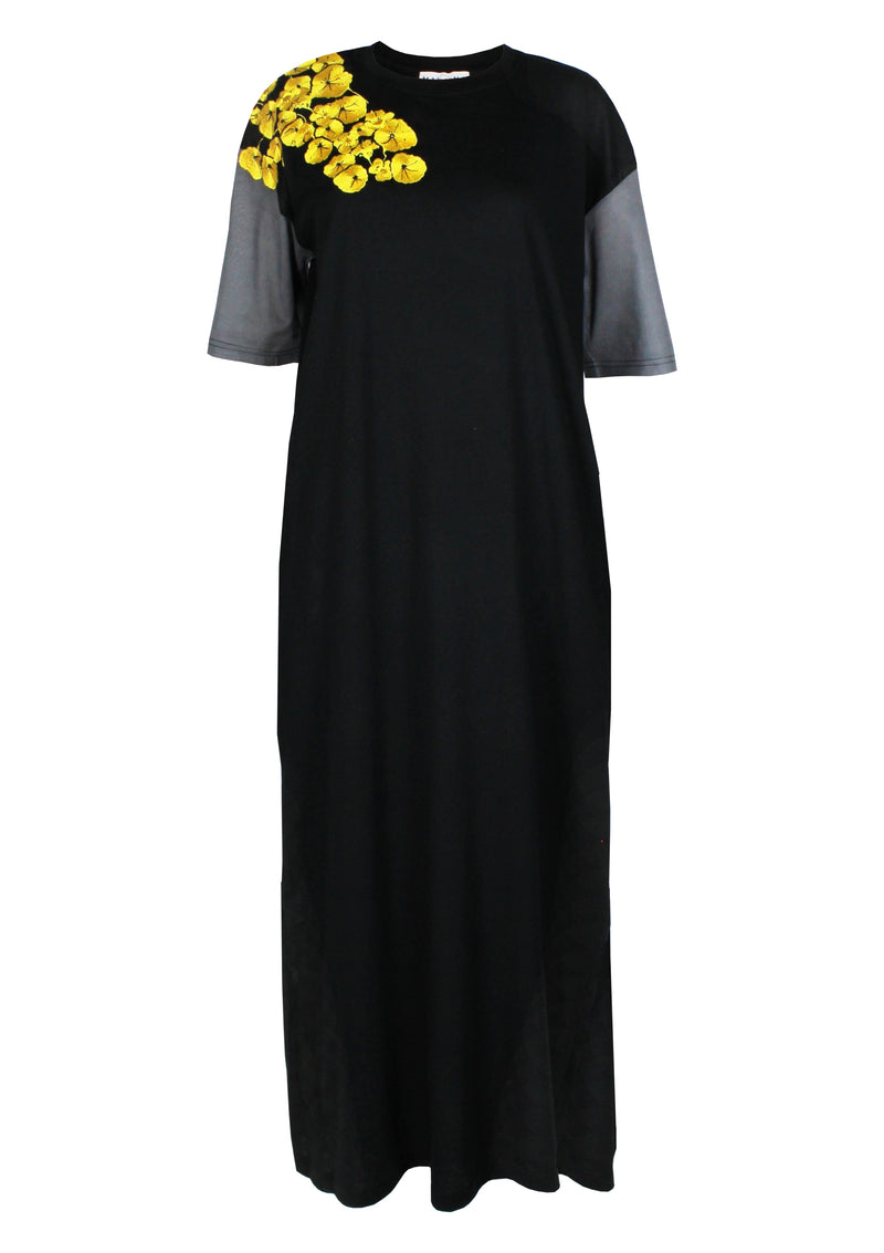 women maxi-t-shirt dress cotton jersey