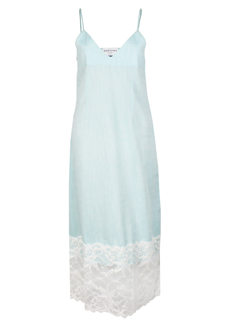women cotton slip dress with lace affordable designer womenswear