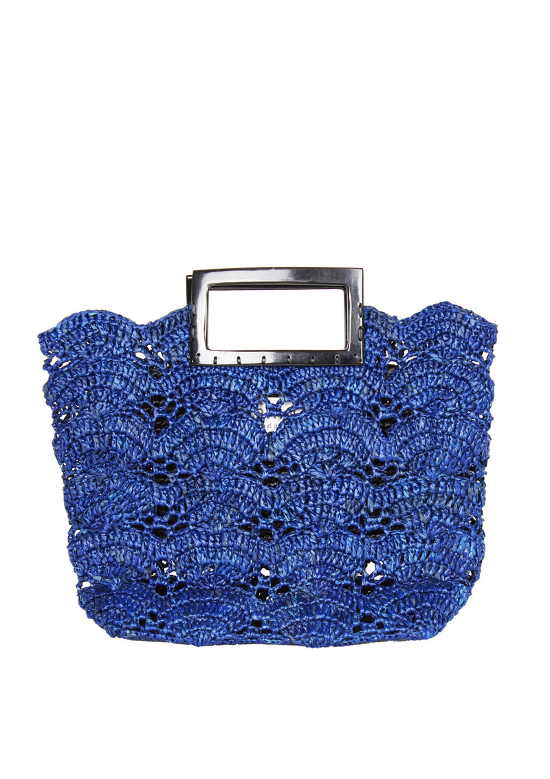 Maraina-London mini raffia bucket bag uk designer