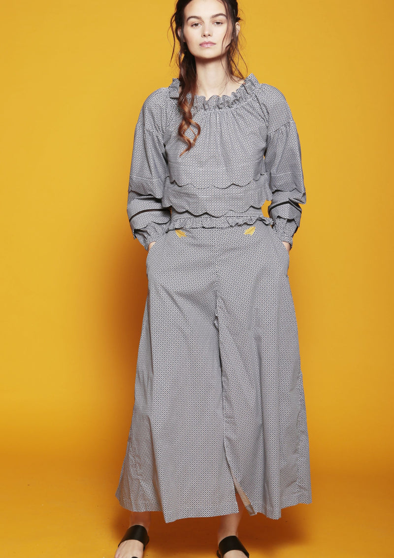 women trousers culottes with pleated belt