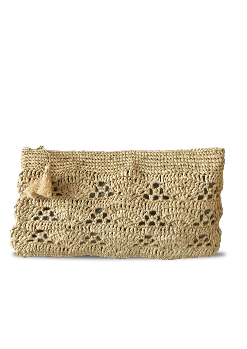 Maraina-London designer raffia beach bag purse