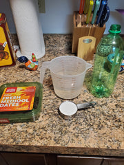 Ingredients shown: dates, water, sugar