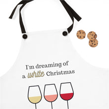 Load image into Gallery viewer, White Christmas Apron