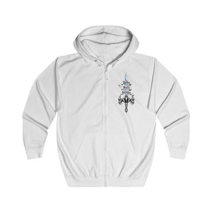 Sword of Cerberus UK Printed Unisex Full Zip Hoodie