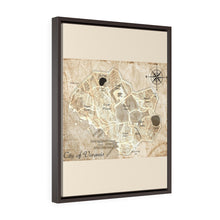 Load image into Gallery viewer, Voramis Map Vertical Framed Premium Gallery Wrap Canvas