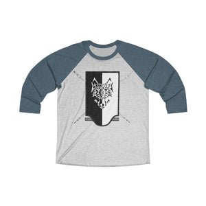 Grim Reavers Shield Unisex Tri-Blend 3/4 Raglan Tee