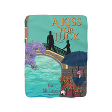 Load image into Gallery viewer, A Kiss for Luck sherpa fleece blanket