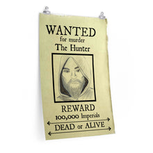 Load image into Gallery viewer, Wanted Poster The Hunter Premium Matte vertical posters