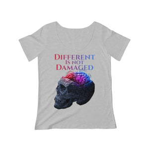 Different is not Damaged Women's Scoop Neck T-shirt