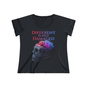 Different is not Damaged Women's Curvy Tee