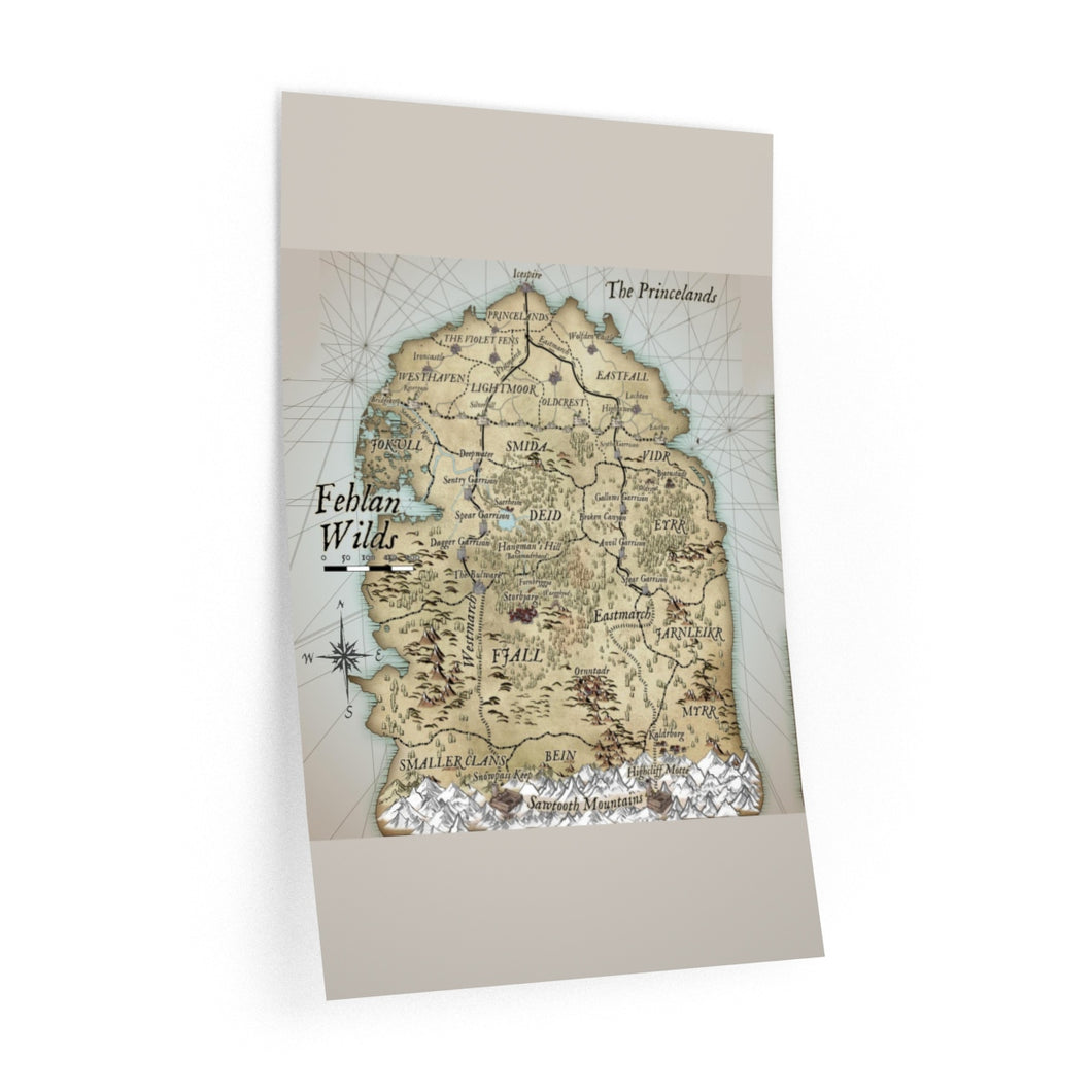 Fehlan Wilds Map Wall Decals