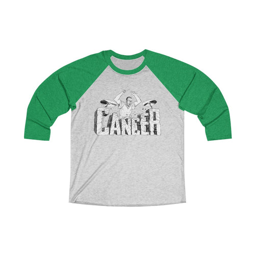 Beat Cancer Unisex Tri-Blend 3/4 Raglan Tee