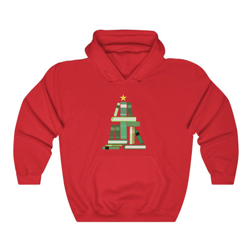 Merry Bookmas Tree Unisex Heavy Blend™ Hooded Sweatshirt