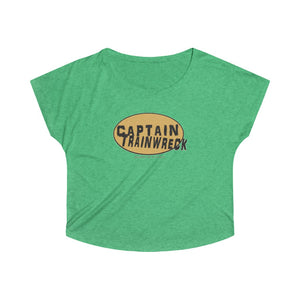 Capt Trainwreck Yellow Women's Tri-Blend Dolman