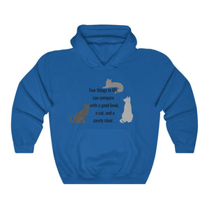 Cats and Books Unisex Heavy Blend™ Hooded Sweatshirt