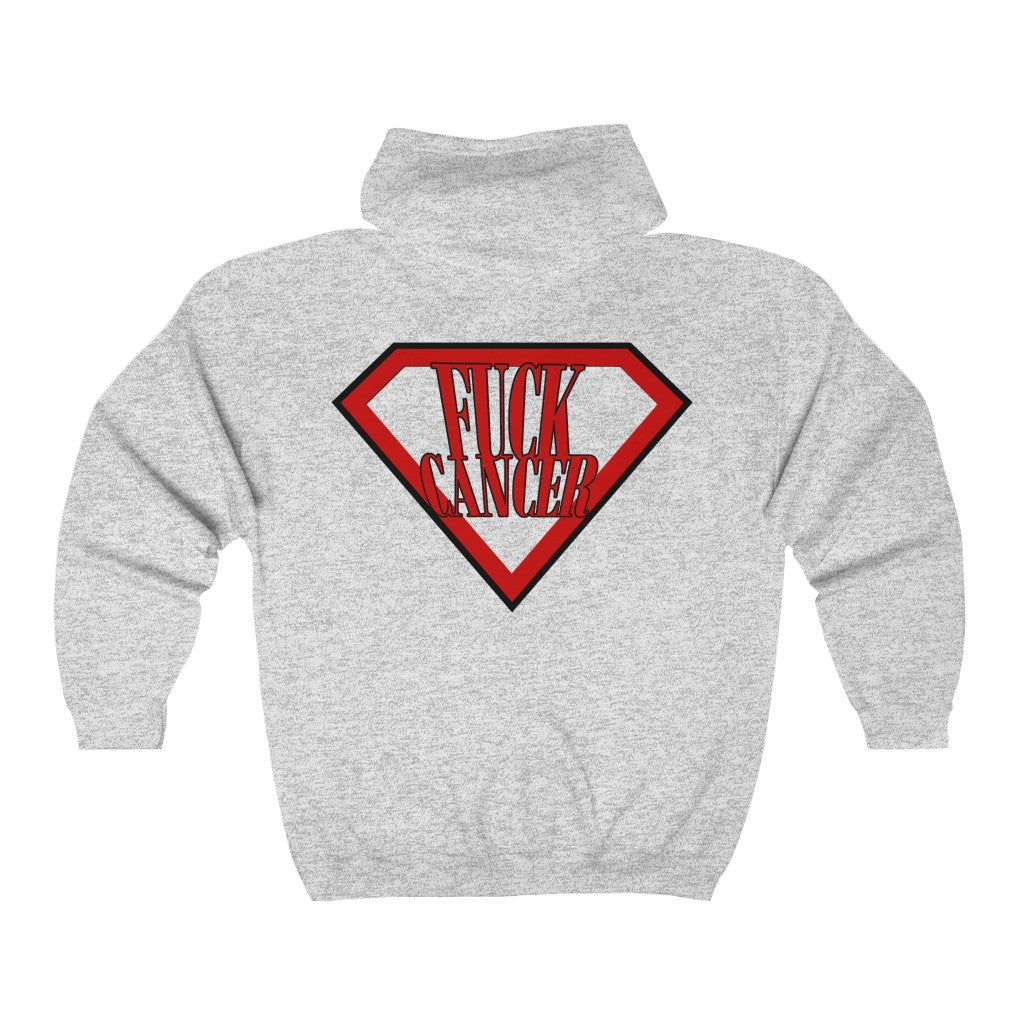 F*ck Cancer Unisex Heavy Blend™ Full Zip Hooded Sweatshirt