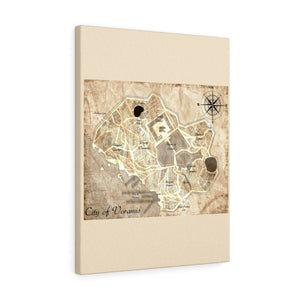 Voramis Map Canvas Gallery Wraps