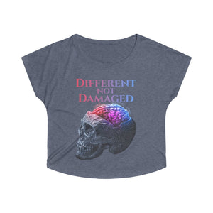 Different not Damaged Women's Tri-Blend Dolman