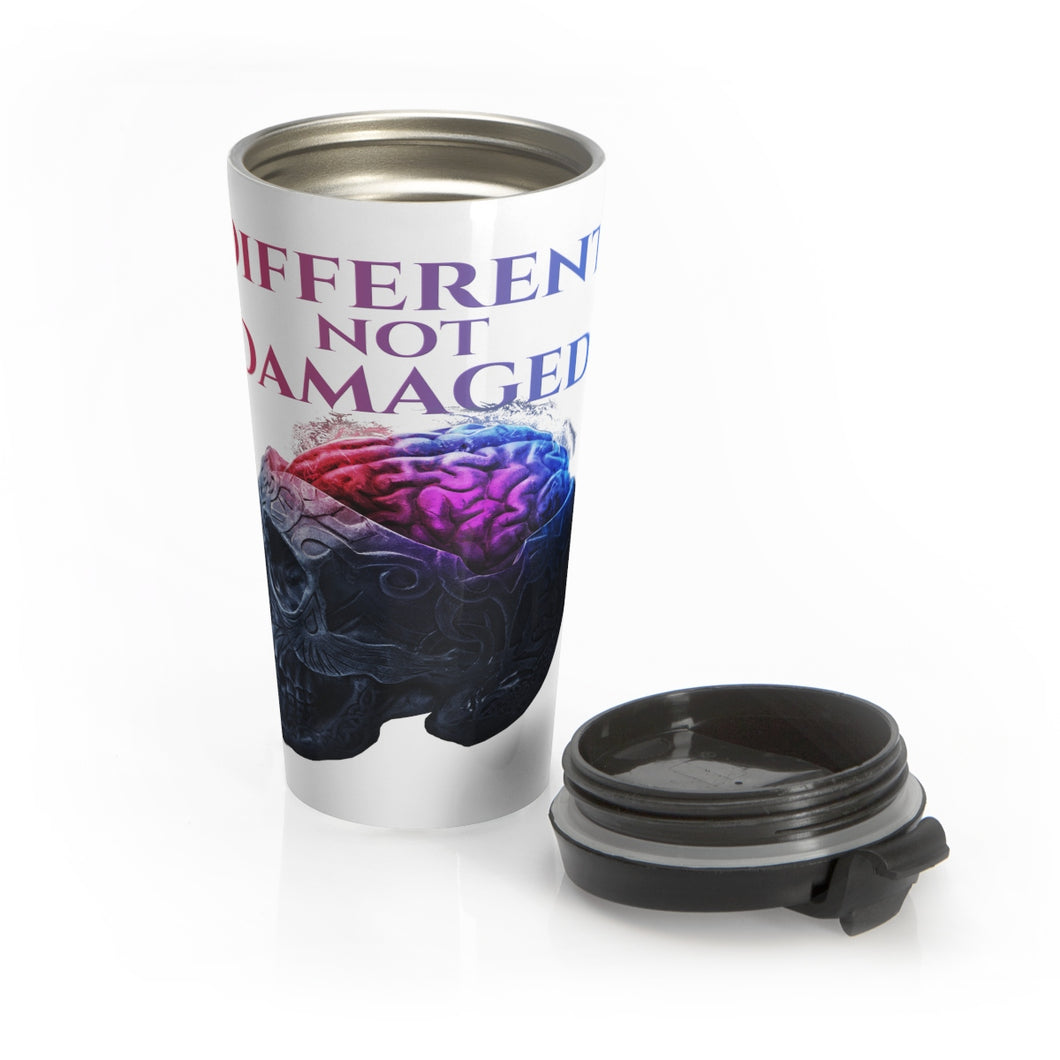 Different not Damaged Stainless Steel Travel Mug