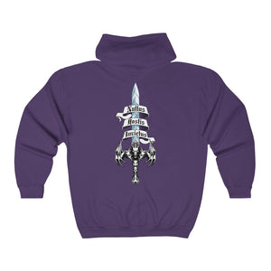Sword of Cerberus Big and Tall Unisex Heavy Blend™ Full Zip Hooded Sweatshirt