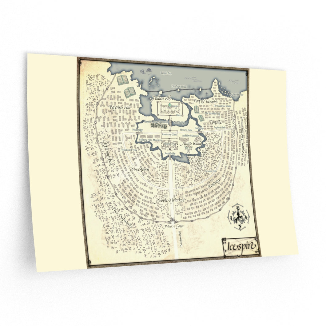 Icespire Map Wall Decals