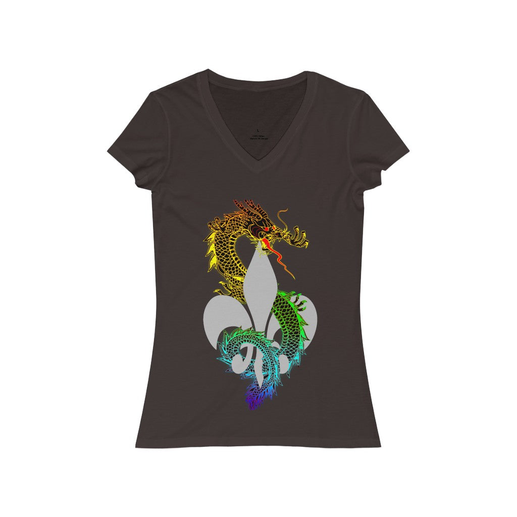 Tattoos Hers Women's Jersey Short Sleeve V-Neck Tee