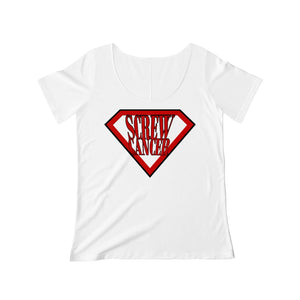 Screw Cancer Women's Scoop Neck T-shirt