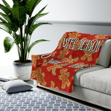 Load image into Gallery viewer, Wake & Bake Velveteen Plush Blanket