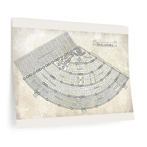 Shalandra Map Wall Decals