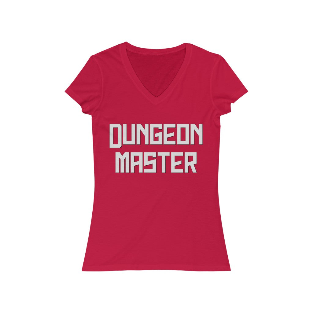 Dungeon Master Women's Jersey Short Sleeve V-Neck Tee