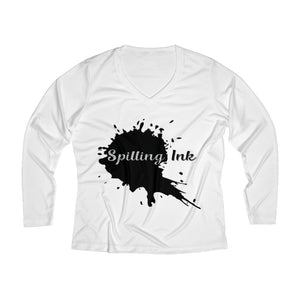 Spilling Ink Women's Long Sleeve Performance V-neck Tee