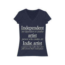Load image into Gallery viewer, Indie Artist Women's Jersey Short Sleeve V-Neck Tee
