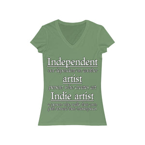 Indie Artist Women's Jersey Short Sleeve V-Neck Tee