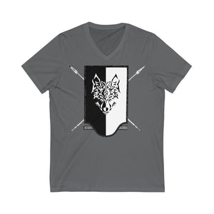 Grim Reavers Shield UK Printed Unisex Jersey Short Sleeve V-Neck Tee