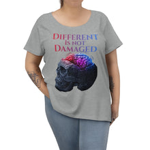 Load image into Gallery viewer, Different is not Damaged Women's Curvy Tee